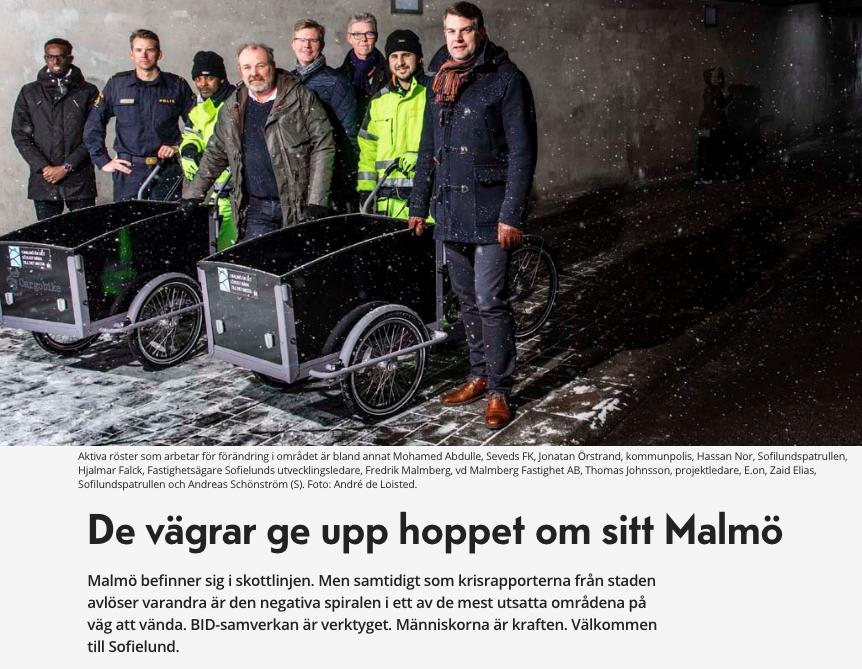 Reportage om Sofielund i Fastighetstidningen