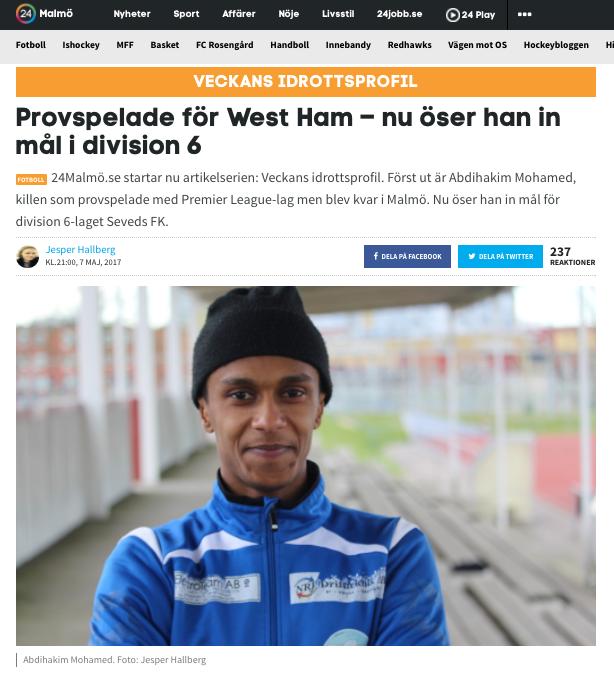 Seveds FKs målspruta Abdihakim Mohamed